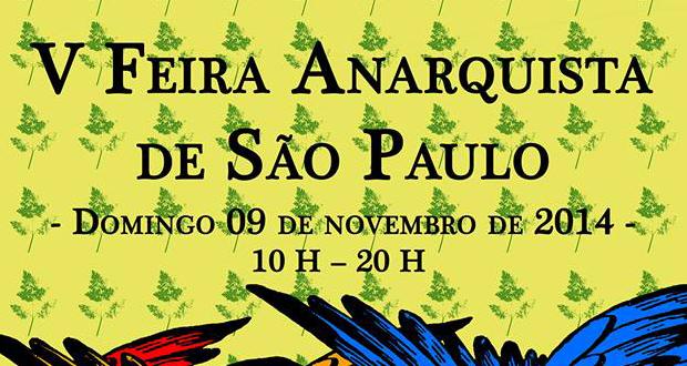 Feira Anarquista será realizada neste domingo