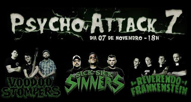Reverendo Frankenstein, Sick Sick Sinners e Voodoo Stompers neste sábado