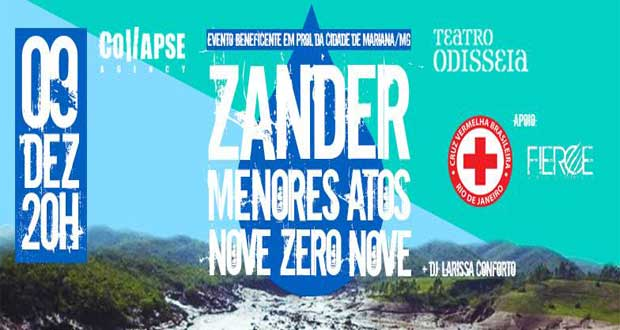 Zander, Menores Atos e Nove Zero Nove realizam show beneficente