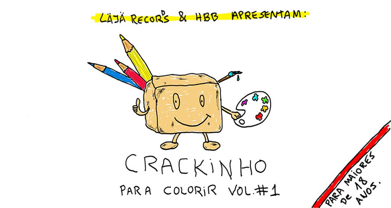 Livro de colorir do Crackinho está em pré-venda no site da HBB