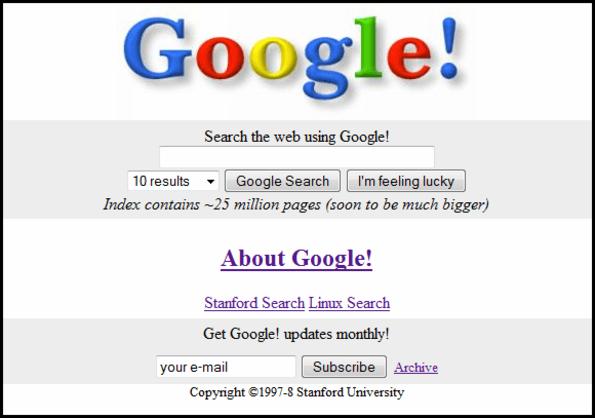 Em 1998 surgia a plataforma de pesquisa mais popular do mundo: Google